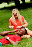 Young couple in love summertime fun happiness romance Royalty Free Stock Image