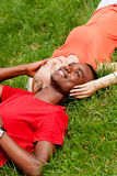 Young couple in love summertime fun happiness romance Stock Photography