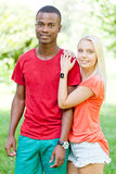 Young couple in love summertime fun happiness romance Stock Image
