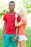 Young couple in love summertime fun happiness romance Royalty Free Stock Photo
