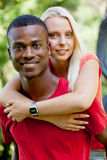 Young couple in love summertime fun happiness romance Royalty Free Stock Photos