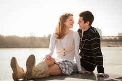 Young couple in love together Royalty Free Stock Image