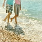 Young couple in love walking Royalty Free Stock Photography