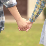 Young couple in love walking together Royalty Free Stock Photos