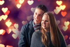 Young couple in love. Smiling and posing Royalty Free Stock Photography