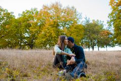 Couple spending time in nature stock images