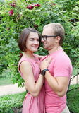 Young Couple Lovers Embracing Royalty Free Stock Photos