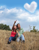 Young couple loving royalty free stock image