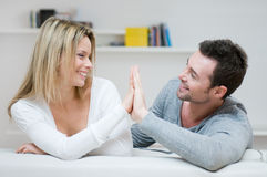 Young couple loving gesture Royalty Free Stock Images