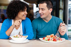 Young couple on lunch Royalty Free Stock Photos