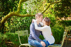 Young couple in the Luxembourg gardens Stock Images