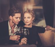Young couple in luxury interior Royalty Free Stock Photo