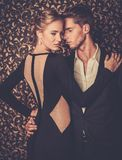 Young couple in luxury interior Stock Photos