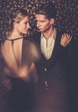Young couple in luxury interior Stock Images