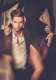 Young couple in luxury interior Stock Photo
