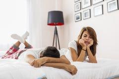 Couple having an arguement stock image