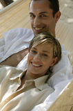 Young couple lying in hammock Stock Photography