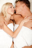 Young couple making out Royalty Free Stock Image