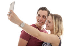 Young couple making selfie Royalty Free Stock Photography