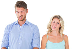 Young couple making silly faces Royalty Free Stock Photo