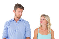 Young couple making silly faces Stock Image