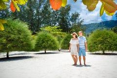 Young couple on Malibu beach at Koh Phangan Island during summer vacation, Thailand. Asia Stock Photos