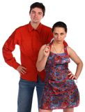 Young couple. Man and housewife. Royalty Free Stock Photo