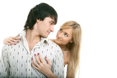 Young couple man and woman Royalty Free Stock Photo