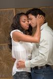 Young couple Man and woman in love kissing Stock Photos