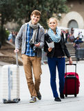 Young couple with a map Stock Photo