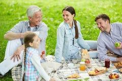 Family picnic Stock Photography