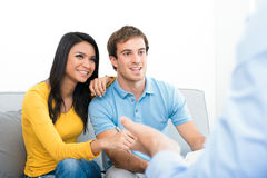 Young couple meeting with  consultant Stock Photography