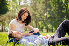 Young couple - modern lifestyle Stock Photo