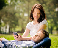 Young couple - modern lifestyle Royalty Free Stock Photo