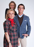 Young couple and mother in law Stock Photography