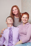 Young couple and mother. Stock Image
