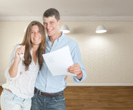 Young couple moving in Royalty Free Stock Image