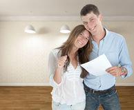 Young couple moving in Stock Photography
