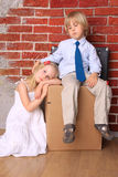 Young couple moving house Stock Photography