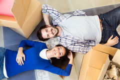 Young couple moving in new home Royalty Free Stock Photo