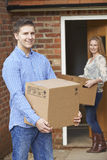 Young Couple Moving Into New Home Together Royalty Free Stock Image