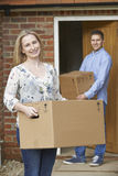 Young Couple Moving Into New Home Together Royalty Free Stock Photo