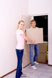 Young couple moving out Royalty Free Stock Photo