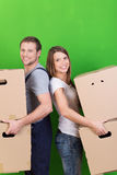 Young couple moving into their new home Royalty Free Stock Photo