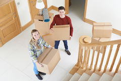 Young Couple Moving In To New Home Royalty Free Stock Photo