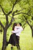 Young couple on nature Royalty Free Stock Photos