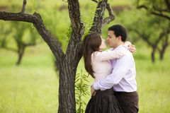 Young couple on nature Royalty Free Stock Images