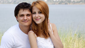 Young couple in the nature Royalty Free Stock Photography