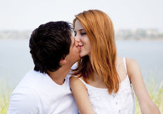 Young couple in the nature Stock Image