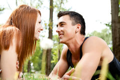 Young couple in nature Royalty Free Stock Photography